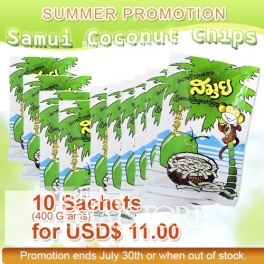 """Samui"" Coconut Chips 10 Sachets"