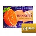 """Bennett"" Bar Soap Vitamin C & E (12 Bars,Pieces)"