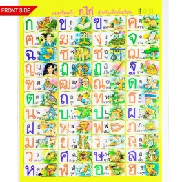 Thai Consonants, Vowels & Tones Learning Chart