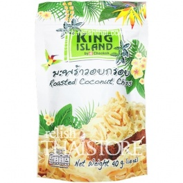 """""""King Island"""" Roasted Coconut Chips by Chaokoh"""