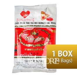 """Number One Brand"" Thai Tea - Original Flavor 190 g. (1 Box / 24 Packages)"