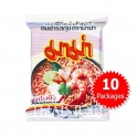 """MaMa"" Shrimp Tom Yum (Spicy & Sour) Flavor Instant Noodles - 10 Packages"