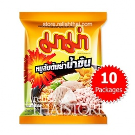 """MaMa"" Pork Creamy Tom Yum Flavor Instant Noodles - 10 Packages"