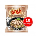 """MaMa"" Black Pepper Pork Flavor Instant Whole Wheat Noodles - 10 Packages"