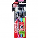 """""""Colgate"""" SlimSoft Compact Head Ultra Soft Charcoal Bristles Toothbrush (3 Brushes)"""