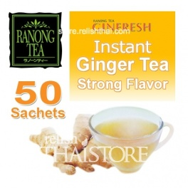 """Ranong Tea Ginfresh"" Instant Ginger Tea - Strong Flavor, Less Sugar"