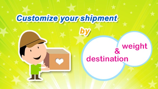 Customize your shipment